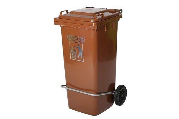 سطل زباله 120 لیتری پدالدار