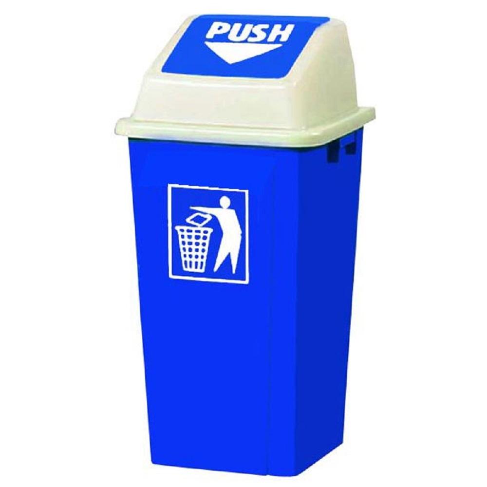سطل زباله 70 لیتری درب بادبزنی